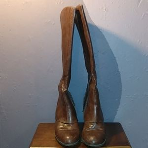 Fergalicious,Brown faux leather boots
